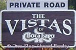 sign for Vistas of Boca Lago, The